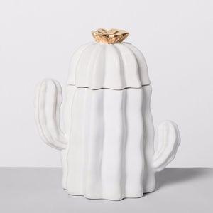 Opalhouse Cactus ceramic cookie jar white Boho